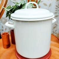 Stock Pot Polos / Enamel tebal HQ / D - 20, T - 20cm/ Bagus - Murah