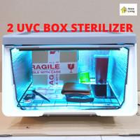 2 UV Sterilizer Box UV BOX Sterilizer Sterilizer BOX BOX Sterilizer UV - Abu-abu