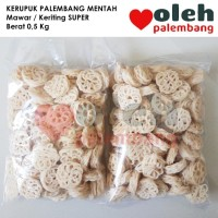 Kerupuk Palembang Mentah Mawar Keriting Rasa Ikan Super