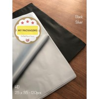Kantong Plastik HD Tebal 25x35 SILVER/BLACK Tanpa Plong Packing Online