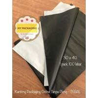 Kantong Plastik HD Tebal 30x40 SILVER/BLACK Tanpa Plong Packing Online
