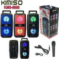 "Portable Speaker Bluetooth KIMISO LED Mic Karaoke Wireless KMS-6685 8"""