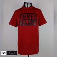 Kaos distro pria 3SECOND baju murah bahan katun