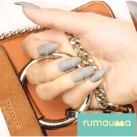 RUMAUMA Kuku Palsu Warna Warni 12 Tip Jari Fake Nails Art With Glue