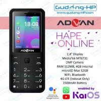 Advan Hape Online 4G LTE Indosat Smart Feature Phone Garansi Resmi