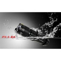 Senter outdoor LED 2000 Lumens Waterproof Pocketman P1 - Black