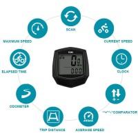 SunDING Speedometer Sepeda, Bicycle Odometer Anti Air Waterproof
