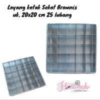 Loyang Kue Brownies Sekat 20x20 - Sekat 25 Lubang