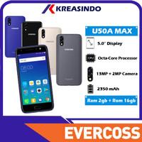 Evercoss U50A MAX 2/16 Ram 2gb Internal 16gb Fingerprint Resmi