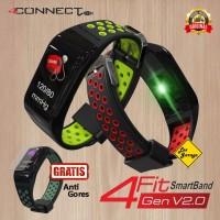 4CONNECT 4Fit Smart Band Blood Pressure Oxigen Monitor Original - Hitam Merah