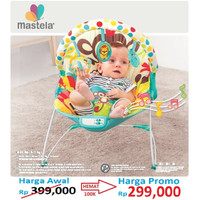 Mastela Baby Bouncer 3 Recline GREEN JUNGLE - MONKEY - 6876