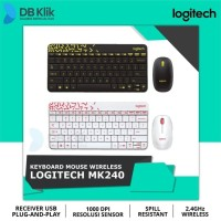 Keyboard Mouse Wireless Combo Logitech MK240 Nano