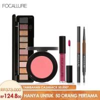 FOCALLURE Bundle Eyeshadow Eyebrow Brush Pen Cream Blush On Lipstik