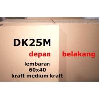 DK25M Kardus Lembaran 60 x 40 Double Kraft Box Karton Polos Cokelat