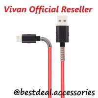 Kabel Data Vivan FL100 2.4A Spring Apple Iphone 5/6/7