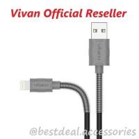 Kabel Data Vivan FL100 2.4A Spring Apple iPhone 5/6/7/8/X Promo