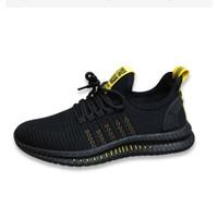 [BUY 1 GET 1] Sepatu Sneakers Pria Casual Sport Sneakers Fashion H33 - Kuning Hitam, 39