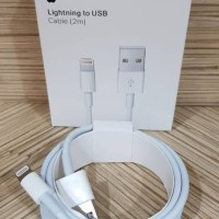 KABEL DATA ORIGINAL 2M 2 METER LIGHTING LIGHTNING TO USB IPHONE 6+ 6S+