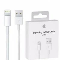 KABEL DATA LIGHTING LIGHTNING TO USB 2 METER 2M ORIGINAL IPHONE 8 PLUS