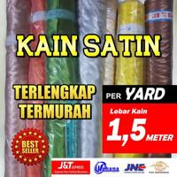 Kain Satin Saten Furing Peles Kahatex 100cm x 150cm bahan hijab jilbab - satu meter