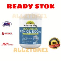 Nature's way odourless fish oil 1000mg 200 softgel