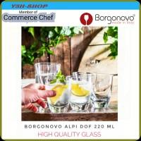 BORGONOVO ALPI DOF GLASS Made in Italy Gelas Kaca Tebal 220 ml (6pcs) - 220 Ml