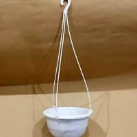 Pot Bunga/Tanaman Gantung 19cm [Warna Putih]