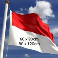 Bendera Merah Putih Indonesia size 60 x 90cm & 80 x120cm Bahan peles
