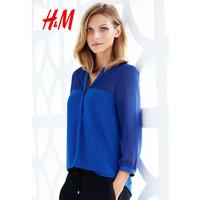 Blouse Wanita Biru - H&M Original 100% - 32, Biru