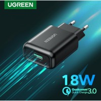 UGREEN QC3.0 USB Fast Charger Black 70273