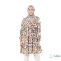 Atasan Muslim Wanita | Kirana Tunik Cokelat | S M L XL | Monalisa