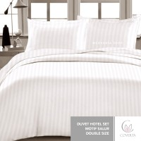 Duvet Hotel Set CVC Cotton Double Size - 2 Sarung Bantal - GROSIR