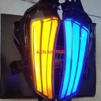 lampu sein sen LED yamaha x max 250 senja biru