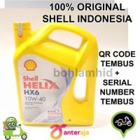 Oli Mesin Shell Helix HX6 10w 40 SN Galon 4 Liter Pelumas Mobil
