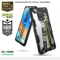 Ringke Redmi Note 9 Pro Fusion X Ticket Band Slim Softcase Anti Crack