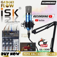 PAKET PODCAST Mic ISK AT100 Mixer Microverb Best 4 Channel Recording