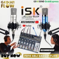 PAKET PODCAST 2 Orang Mic ISK AT100 Mixer Microverb Best 7 Best7