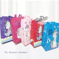 Tas Souvenir Ulang Tahun / Goodie Bag HBD / Tas Ulang Tahun Unicorn -S