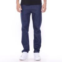 Dailyoutfits Celana Panjang Pria Jeans Strech Washed Dark Blue Premium