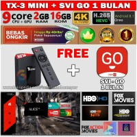 IPTV SVI GO 1BULAN + STB ANDROID TVBOX CHANNEL SVICLOUD