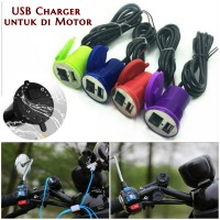 Casan Hp Di Motor ANTI AIR USB Charger Phone Handphone Casan Charger
