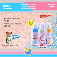 PIGEON BOTOL PP RP STANDARD ASSORT - 120 ML | Bottle Susu Nipple 120ml