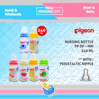 PIGEON BOTOL PP RP PERISTALTIC MM 240 ML| Bottle Susu Dot Nipple