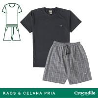 Crocodile SLOE Black - Men T-shirt Celana Pria Original - Bahan Katun