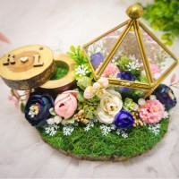 Ringbearer terarium rustic-Mahar wedding / Pernikana (kotak cincin)