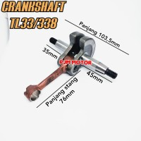 Crankshaft Kruk As Mesin Potong Rumput Tanika TL33 330 338 Turbo