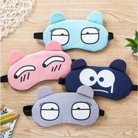 Penutup mata tidur Sleep Eye Mask Travel Sleepmask Cooling Gel - Cry Abu