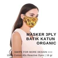 Masker Kain Batik Organik Masker Katun 3ply Batik Masker Batik 3ply