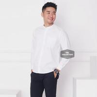 Baju Hem Kemeja Putih Pria Lengan Panjang Kerah Shanghai Kancing1 3345