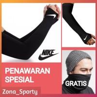 Manset Tangan Nike/Sarung Lengan Panjang Olahraga Futsal Sepeda